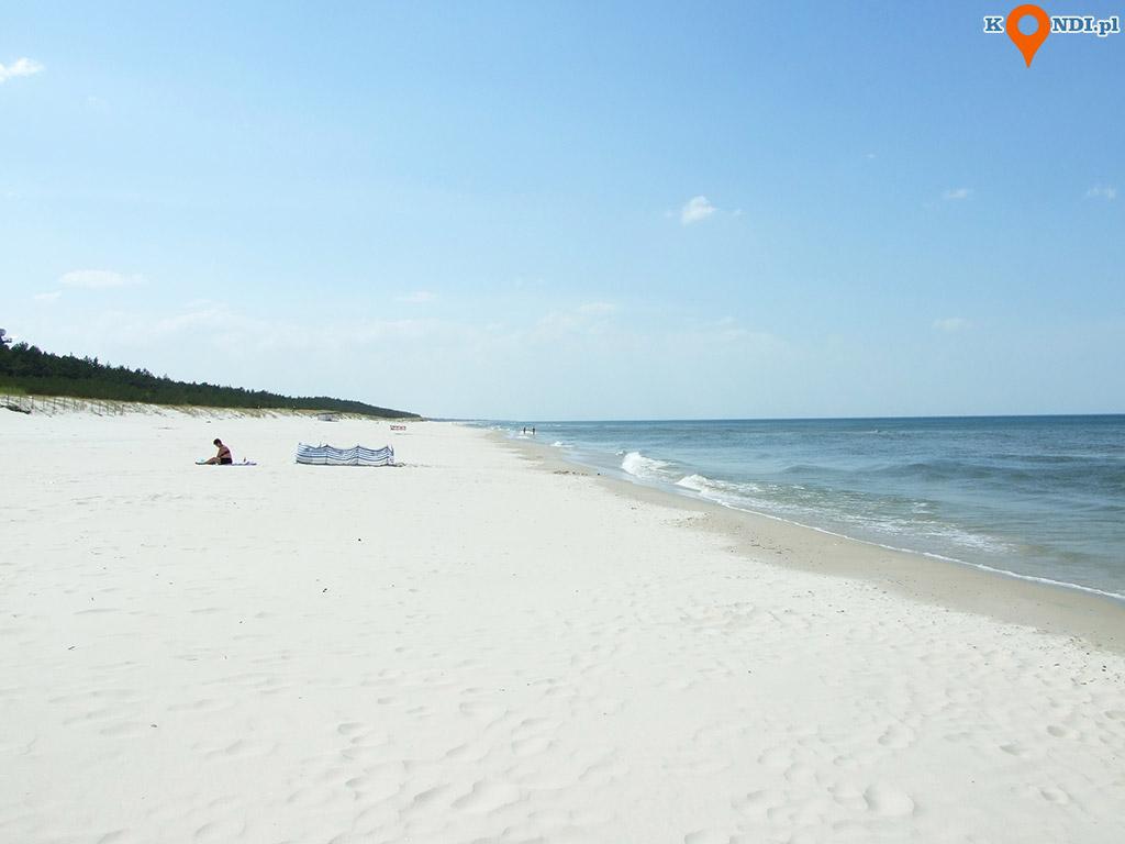 Polska Łeba - Drugi dzień w Łebie spędziliśmy na plaży