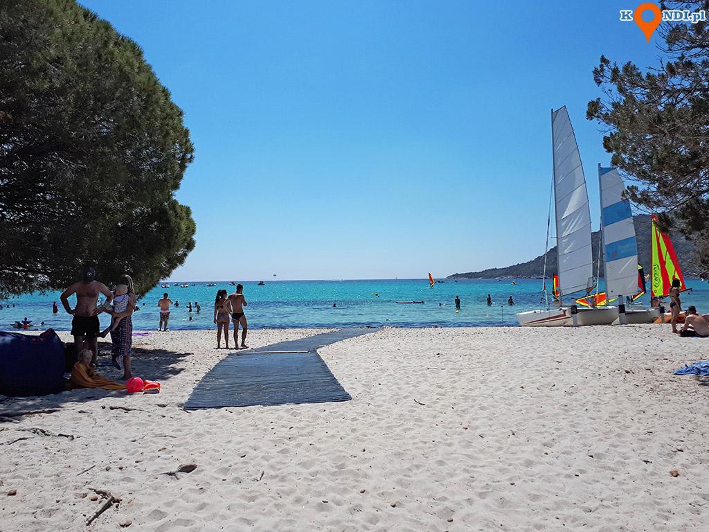 Korsyka Porto Vecchio - Plaża Santa Giulia